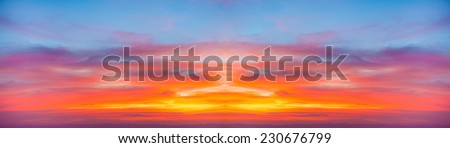 Sunrise over mountains,Abstract blur background. - stock photo