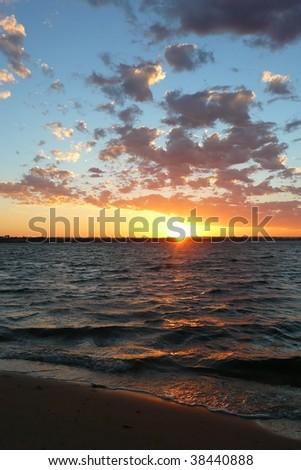 Sunrise over Swan River - stock photo