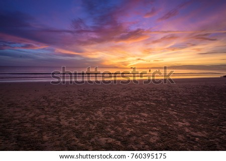 Sunrise over the beach