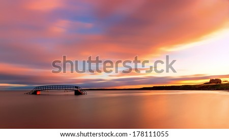 Sunrise over the Bridge to Nowhere, Scotland