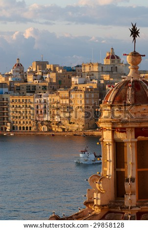 Sunrise over the Grand Harbor, Valletta, Malta