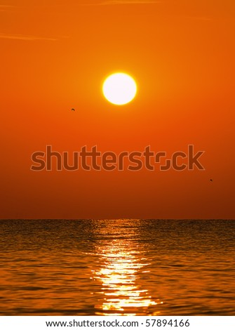Sunrise over the sea - stock photo