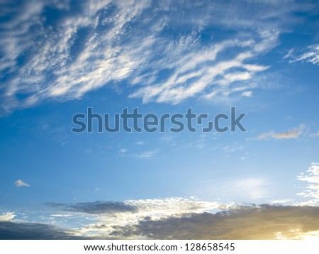 Sunrise, Photo-realistic. - stock photo