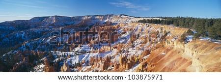 Sunrise Point at Sunrise, Bryce Canyon National Park, Southern Utah - stock photo