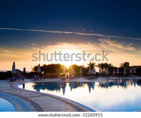 Sunrise Pool - stock photo