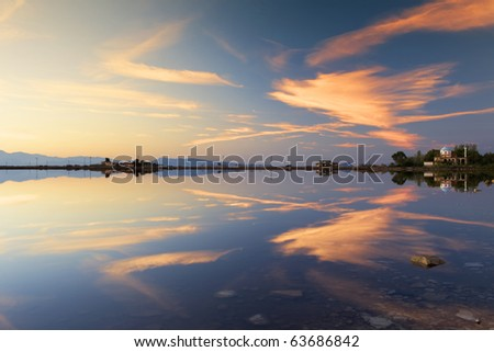 sunrise reflection on the horizon