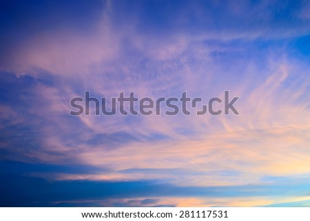sunrise sky with clouds