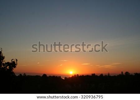 Sunrise stock photo - stock photo