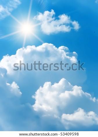 Sunrise  sun  sky  clouds - stock photo