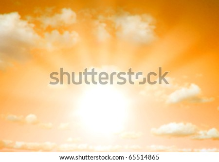 Sunrise / sunset background - stock photo