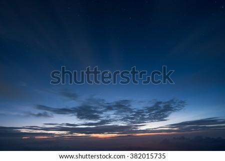 Sunrise, Sunset, Clouds, Sky, sun - stock photo