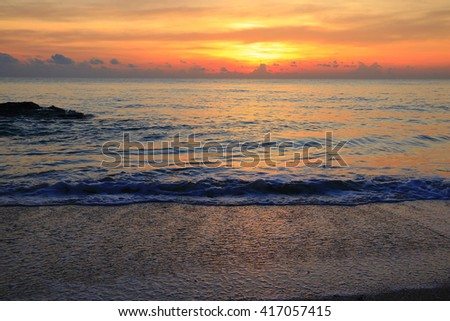 Sunrise view at lake:select focus with shallow depth of field:ideal use for background:Ideal use for background. - stock photo