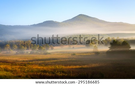 Sunrise View of Great Smoky Mountains - stock photo