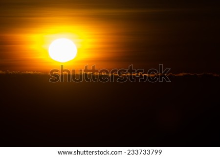 sunrise,Viewpoint  Inthanon. Watch the sun rise in the morning Furnishings and all visitors to visit this spot. - stock photo