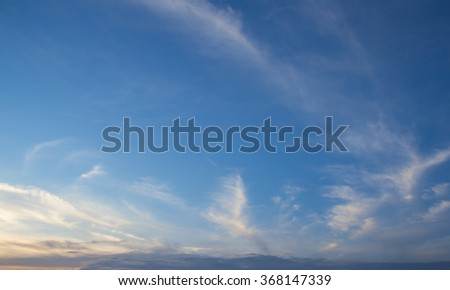 sunrise with clouds, light rays and other atmospheric effect