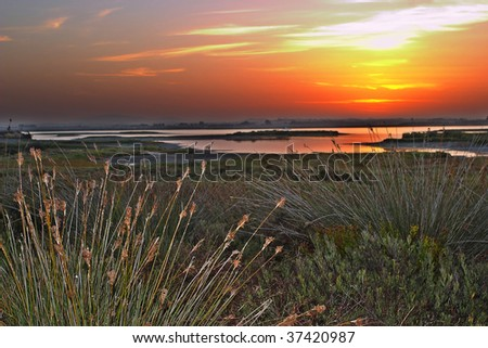 Sunrises on the beach of Camposoto - San Fernando - Cadiz