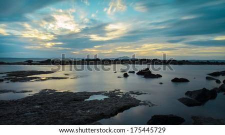 Sunrises over Torbay, New Zealand - stock photo