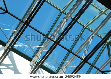 sunroof in the office building - stock photo
