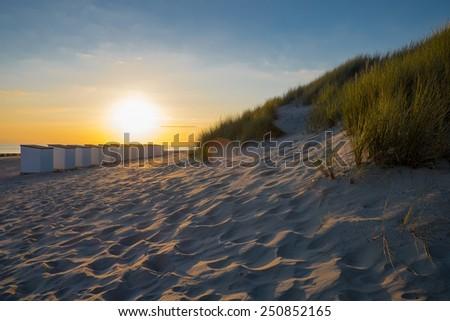 sunset a zuitelande - stock photo