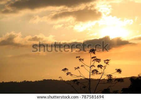 Sunset And Beautiful Scenery Sunrise Sky Light In The Morning Hope