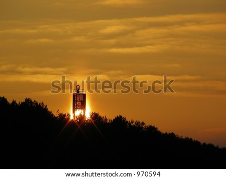 Sunset and lighthouse