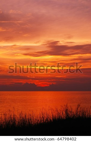 Sunset and Seascape,Thailand - stock photo