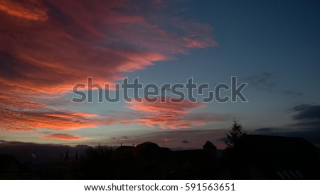 stock photo sunset and sunrise with dramatic colorful clouds slovakia 591563651 - Каталог — Фотообои «Закаты, рассветы»