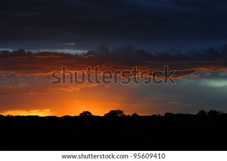 Sunset, Arches National Park, USA - stock photo