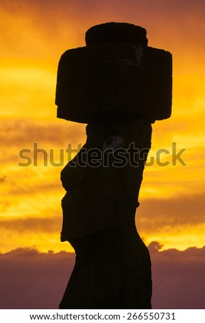 Sunset at Ahu Tahai, Easter island (Chile)