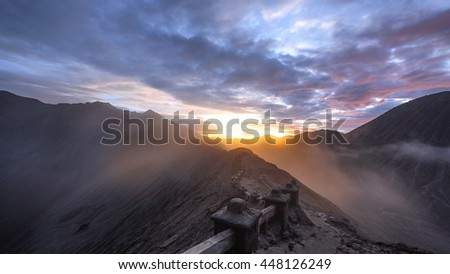 Sunset at Bromo, Indonesia