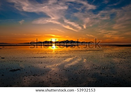 Sunset at Great Salt Lake