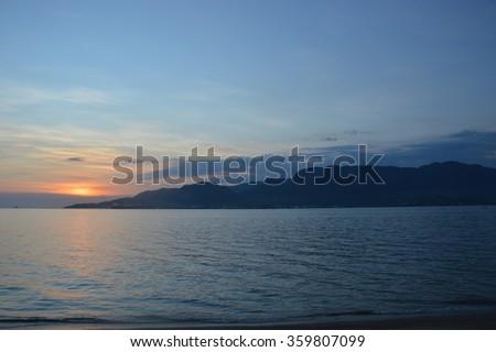 Sunset at Ilhabela - Brazil - stock photo