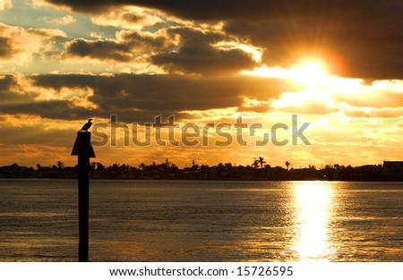 Sunset at Key west - stock photo