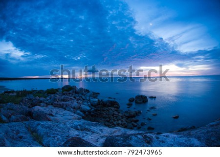 Sunset at landscape Gove bay in Nhulunbuy, Northern Territory, Queensland, Australia