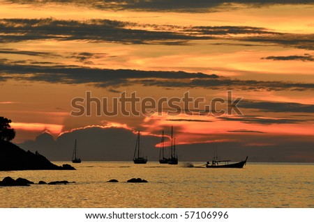 Sunset at Lipe, Thailand