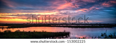 Sunset at Merritt Island, Brevard County, Florida, USA - stock photo