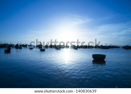 Sunset at Muine beach - stock photo