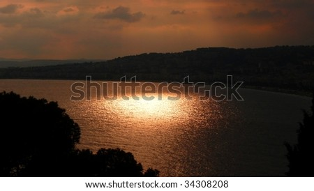 Sunset at Promenade des Anglais, Nice, French Riviera
