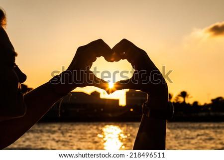 Sunset at Punda Willemstad, Curacao Caribbean - stock photo