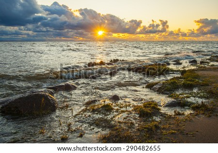 sunset at the Baltic sea
