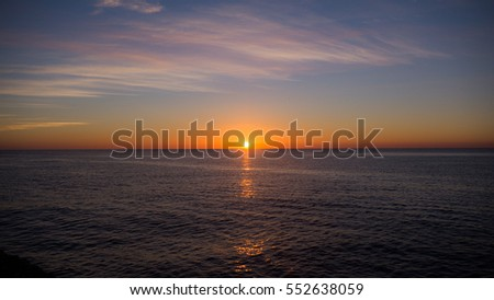 Sunset at the seaside in Sicily