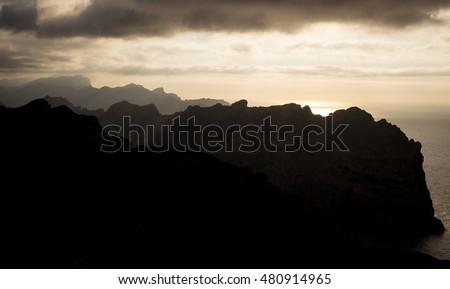 "sunset at the ""Sierra de Tramuntana (Mallorca / Spain)"