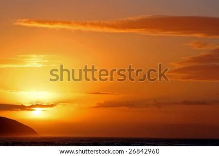 Sunset at Tsitsikamma National Park, South Africa - stock photo