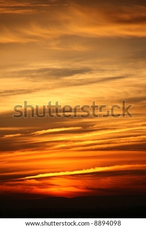 sunset background - stock photo