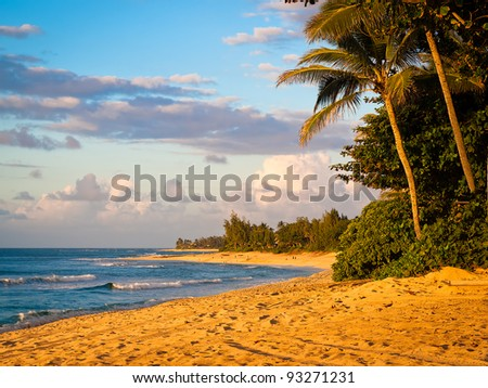 Sunset Beach on Maui Island during Golden Hour. - stock photo