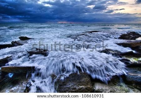 Sunset beach , Perth Western Australia - stock photo