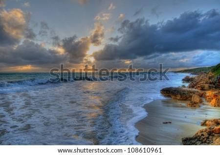 Sunset Beach Perth Western Australia - stock photo