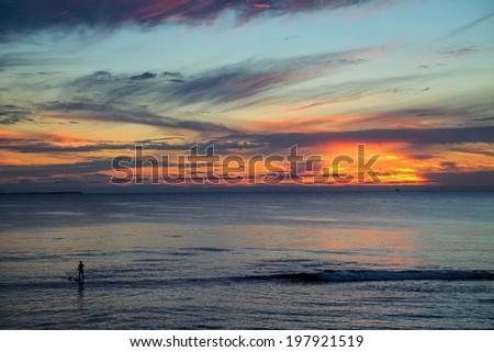 Sunset beach , Western Australia - stock photo