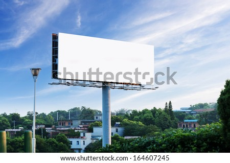 Sunset billboards - stock photo