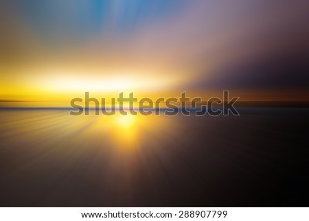 Sunset bliss over the shores of Monterey, California - stock photo